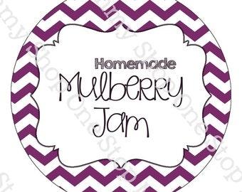 Mulberry Jam mason jar labels - print at home!