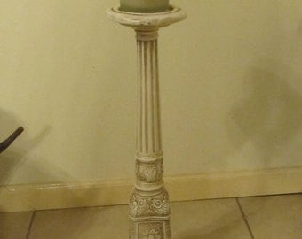 Made in Mexico Tall  Plaster Candle Holder