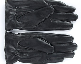 Handmade Leather Gloves Winter Fashion