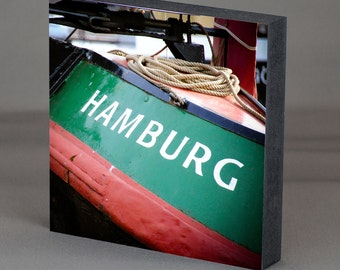 Hamburg on wood - Hamburg Green