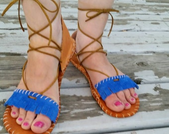 women's sandals Leather  fringe sandals bohemian sandals gladiator women's shoes