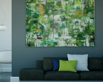 Green Original Abstract painting Extra Large Painting XL XXL modern art Large huge abstract painting wall art contemporary art  XXL enormous