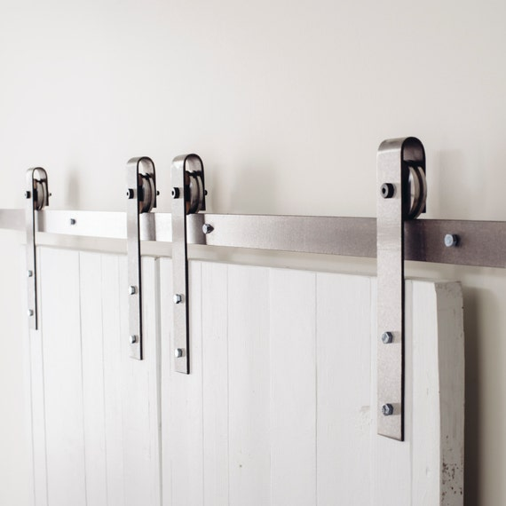Industrial Classic Double Door Sliding Barn Door Closet Hardware By