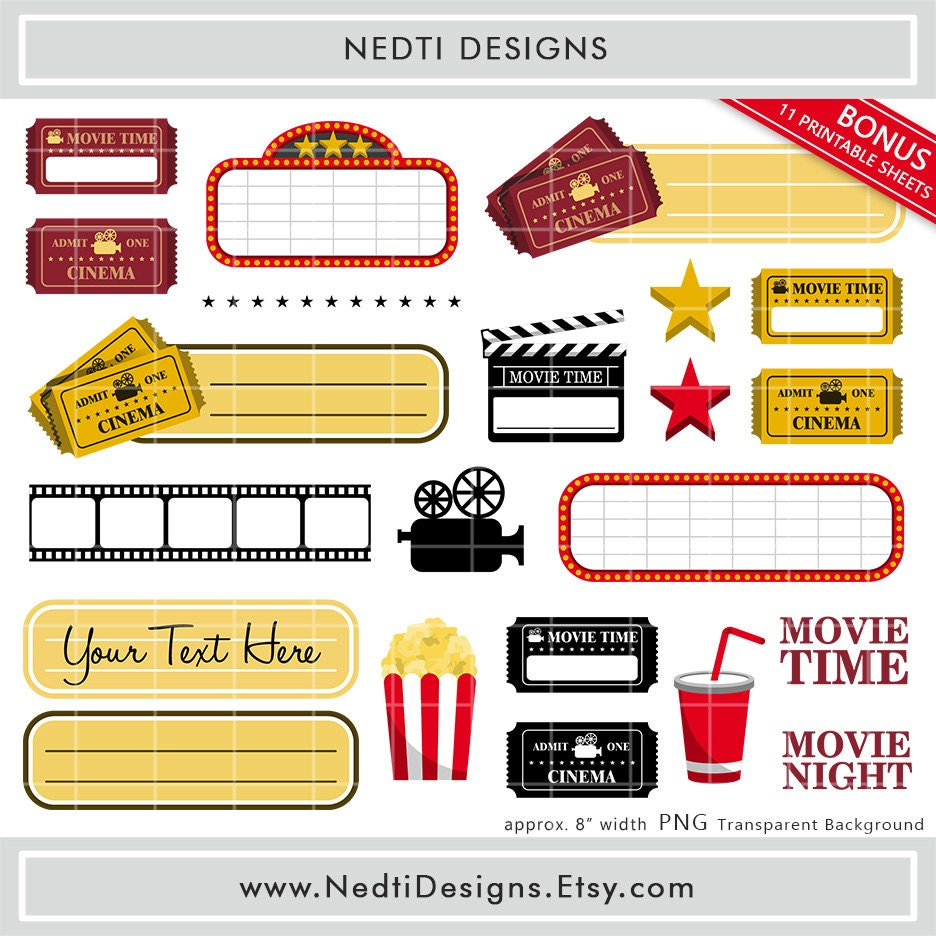 Scrapbook paper and stickers - This Is A Digital File
