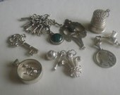 Vintage Collection Silver and Silver Toned Charms Pendants