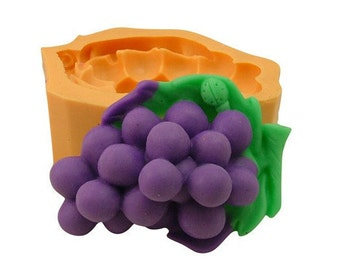 3D Grape Soap Mold Candle Mold Mould Silicone Mold Flexible Mold Cake Mold