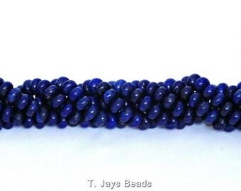 A Grade Lapis Lazuli Rondelle Beads - 5x8mm
