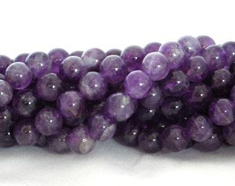 Amethyst Round Beads - AB Grade - 8mm