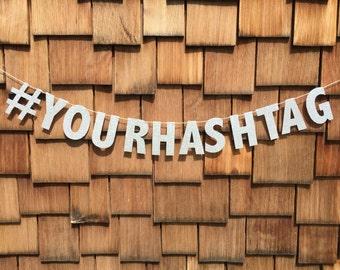 Custom Glitter # Banner - Create Your Own Hashtag Banner