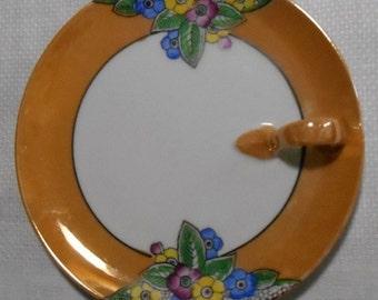 Vintage Noritake Art Deco Hand Painted Lemon Plate - 1920s