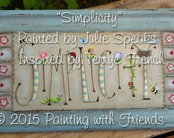 Simplicity E-Pattern - Julie Speaks, Painting with Friends