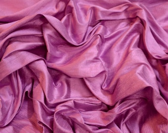 """Orchid Pink Dupioni Silk, 100% Silk Fabric, 44"""" Wide, By The Yard (S-241)"""
