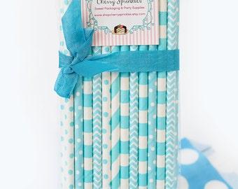 BABY Blues *Light Blue Straws for Boy theme Birthday *Blue Straws *Party Straws *Blue Multipack Party Decor *Ocean Theme Party *Blue Chevron