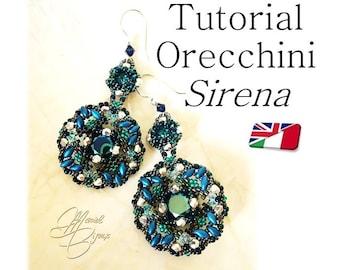 """Pattern - Earrings """"Sirena"""""""