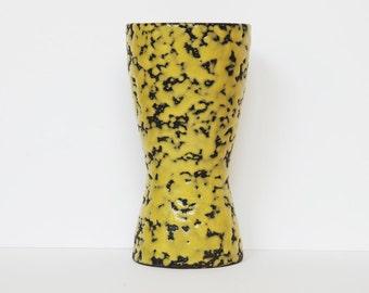 West German Scheurich yellow lava vase  244-17