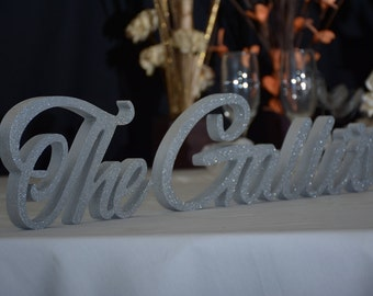 Personalized wedding sign NAME - custom name sign,  bridal shower gift, wedding  table decoration