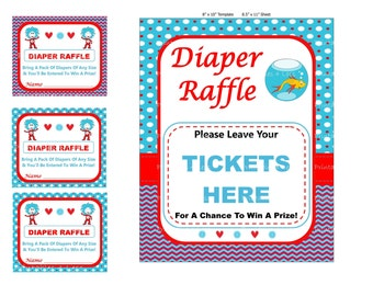 Dr Seuss Diaper Game, Dr Seuss Baby Game, Printable Seuss Game, Dr Seuss Baby Shower Game, Cat In The Hat Baby Game - By Printables 4 Less