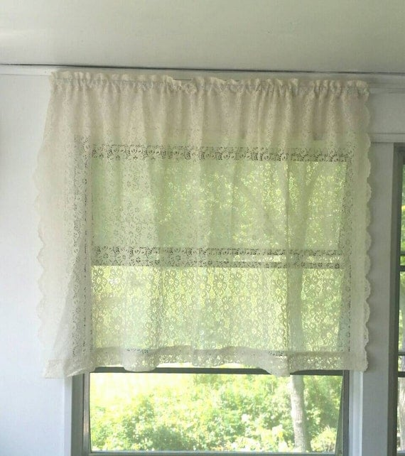 Ivory Lace Curtains French Country Curtain By Muttonhollowcottage