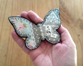 Fly - butterfly brooch