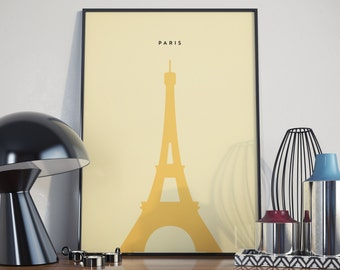 Paris Eiffel Tower Print. A3 Poster.