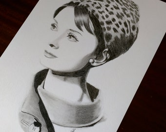 Audrey Hepburn drawing size A4