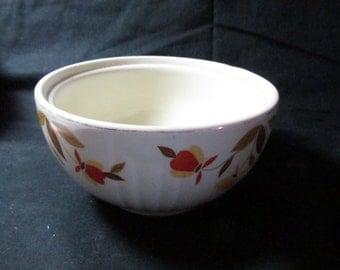 Jewel Tea grease bowl Hall China Autumn leaf vintage 1950s