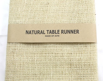 "Ivory Burlap Table Runner 14"" x 72"" finished edges Good for rustic country weddings, finish edges, catering, home decor (BH-R02)"
