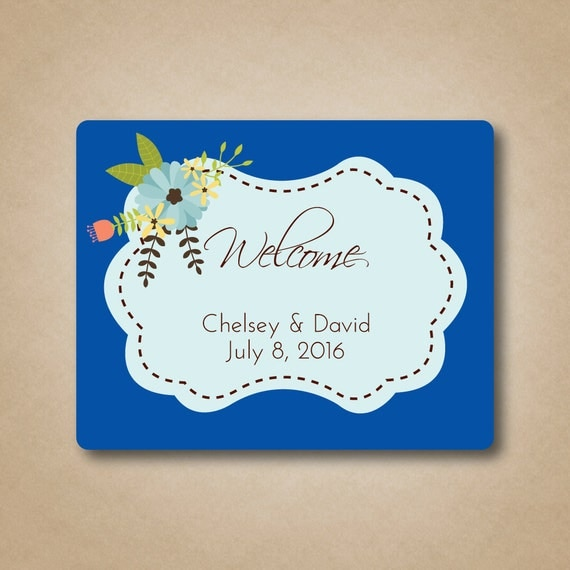 Wedding Labels For Gift Bags: Floral Wedding Welcome Labels Large Welcome Labels Gable