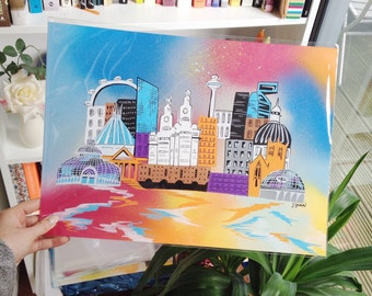 Liverpool cityscape illustration