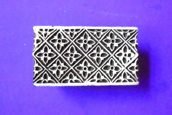 Border wood geometric stamp hand carved indian by