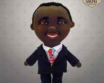 African American Cstom Selfie doll - personalized doll, custom doll, character doll, rag doll, art doll, made by photo