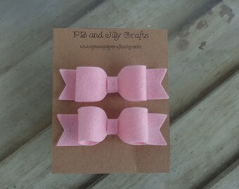 Light Pink Felt Bows
