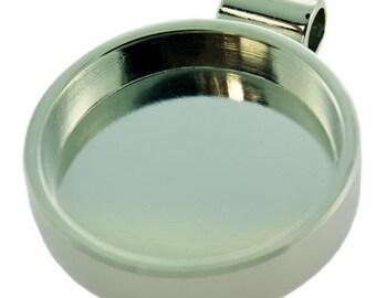 """Round Pendant 1-1/16"""" ID Silver Color  (3000SC-43)"""