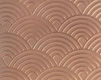 "Patterned Copper Sheet ""Rainbows"" 2"" x 6"" (choose 18 thru 24ga)  (CSP45XX)"