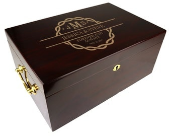 Personalized Humidor The Tuscany 100-120 Capacity, Wedding Gift [DEC-008]