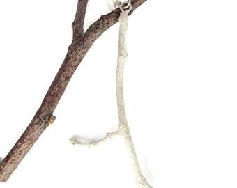 Silver Tree Necklace. Silver Tree Branch Necklace. silver Tree Branch Charm. silver Tree Twig Necklace. Everyday Silver Necklace
