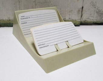 Rolodex Card File Vintage Office Contact Organizer Scrapodex Mid Century Address Book Photo Display Plastic Office Desktop Tool Rolodex