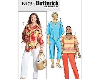 Butterick B4754 Sewing Pattern Women's Top's, Pants Size:  RR  18W-20W-22W-24W  Uncut