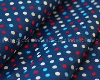 20% Off // DOUBLE GAUZE- Dotted Navy Double Gauze, Color Basic Double Gauze Collection, Lecien Japan, By the Half-Yard
