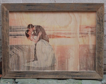 Photos Printed Onto Timber & Framed in Recycled Timber Picture Frames