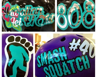 Custom Double Layer Roller Derby Helmet Decal