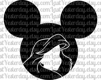 Little Mermaid Ariel Mickey Head DIGITAL DOWNLOAD svg dxf jpg png