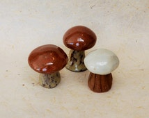 Ceramic Mushrooms Decor , Fairy Garden Miniature , Miniature Garden , woodland decor , Terrarium decor.