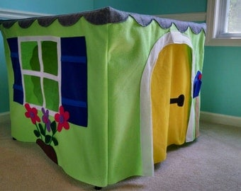 Custom Cottage Playhouse - Felt Card Table Play House