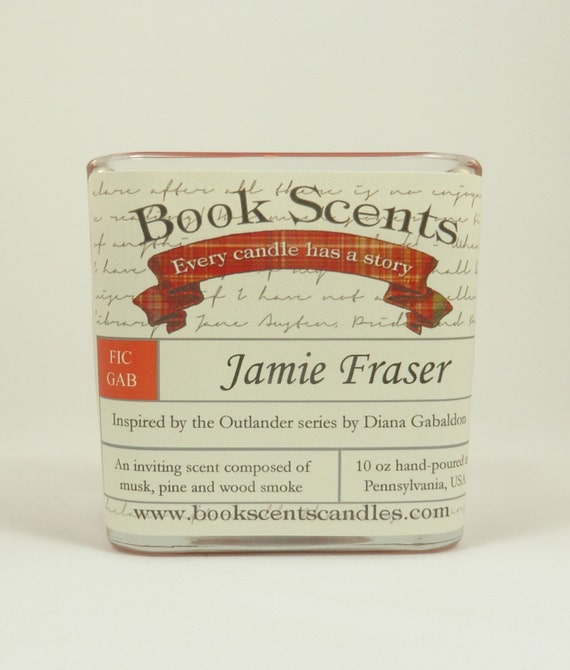 Jamie Fraser - Book Inspired Candle - Hand-poured, 10 oz soy blend container candle