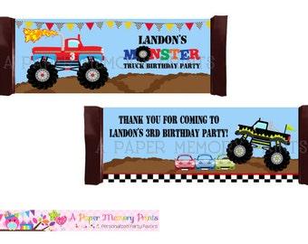 Monster Trucks Candy Wrapper - DIY Printable