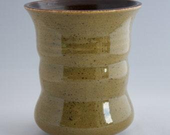 Green Speckled Ceramic Vase