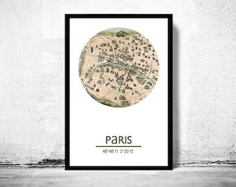 PARIS - city poster (2) - city map poster print