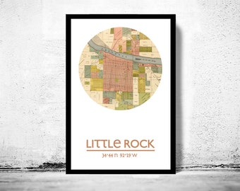 LITTLE ROCK - city poster - city map poster print