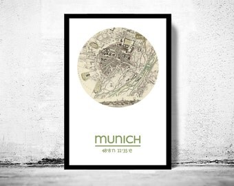 MUNICH - city poster - city map poster print